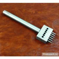 Пробойник строчный NN круглый 4 мм 6 зубьев