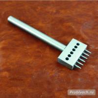 Пробойник строчный NN круглый 5 мм 6 зубьев