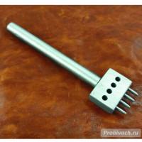 Пробойник строчный NN круглый 6 мм 4 зуба