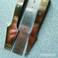 Пробойник строчный Wuta 3 мм 5 зубьев французского (европейского) типа полированный