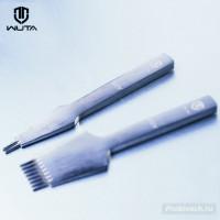 Пробойник строчный Wuta реверс 3 мм 2 зуба французского (европейского) типа полированный