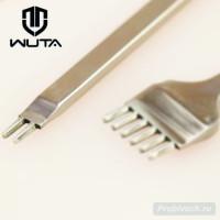 Пробойник строчный Wuta 3 мм 2 зуба косой тип полированный
