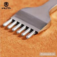 Пробойник строчный Wuta 3 мм 6 зубьев косой тип полированный