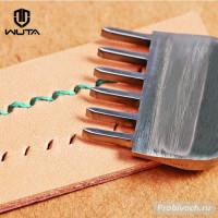 Пробойник строчный Wuta 4 мм 6 зубьев косой тип полированный