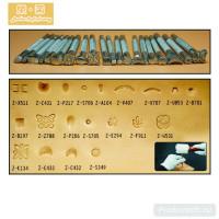 Набор фигурных штампов для тиснения LeatherCraft 20шт