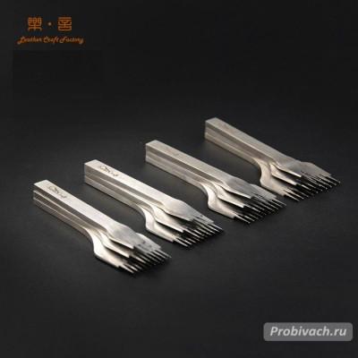 Комплект строчных пробойников SwanCraft 2,7 мм 2+5+10 зубьев французского (европейского) типа
