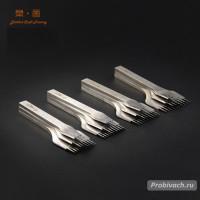 Комплект строчных пробойников SwanCraft 3,38 мм 2+5+10 зубьев французского (европейского) типа