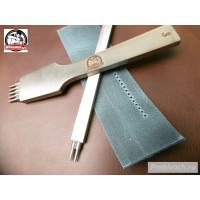 Комплект строчных пробойников Пробивач шаг 3 мм 2+5 зубьев тип гвозди