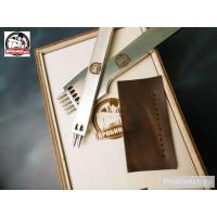 Комплект строчных пробойников Пробивач шаг 4 мм 2+5 круглых зубьев
