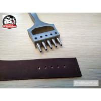Профессиональный пробойник Пробивач для часовых ремешков 5 зубьев 3x2 мм полированный