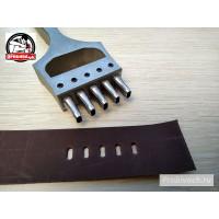 Профессиональный пробойник Пробивач для часовых ремешков 5 зубьев 5x2,5 мм полированный